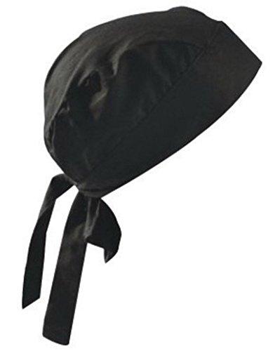 OccuNomix One Size Fits All Black Tuff Nougies Regular Tie Hat (Doo Rag)