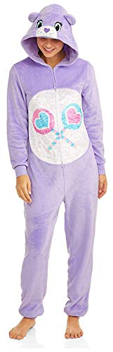 Care Bear License Women's Share Bear Union Suit One Piece Pajama Set (Large (12-14))