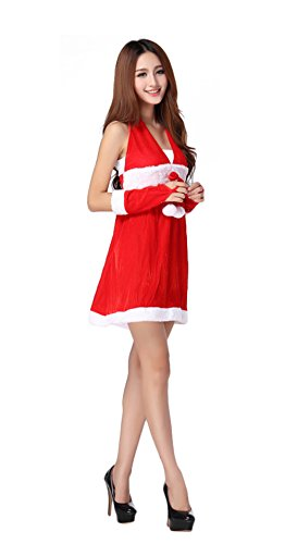 [DH-MS Dress Nightclub Uniforms Lure Singer DS Red Festive Christmas Clothes] (Madonna Costume Plus Size)