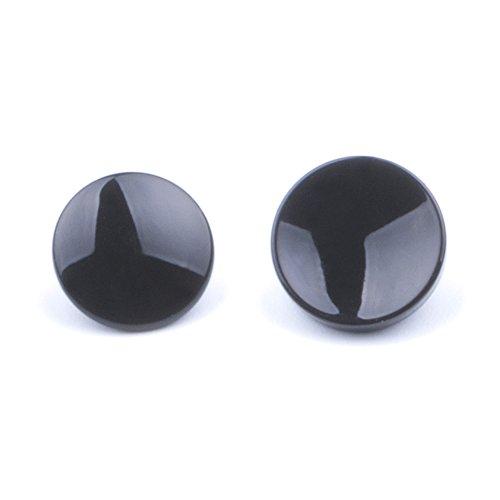 (2 Pack) Black Soft Metal Shutter Release Button Brass for Fujifilm X100F X-T20 X-PRO2 XPRO-1 X20 X30 X100 X100T X100S X-E1 X-E2 X-E2S X-T10 STX-2 Camera 11mm Concave 10mm Convex Surface Shutter Button