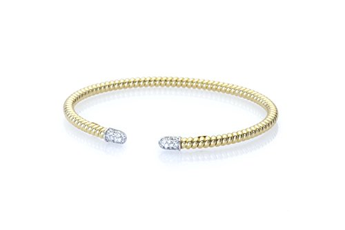 Nuovi Gioielli. Bracelet en or jaune 18 carats avec diamants.