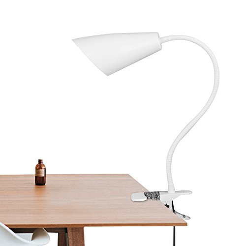 Veesee Led Clip on Light,2 Adjustable Color Flexible Clip-on Bed Reading Lights,Plug in Dimmable Table Desk Nightstand Lamp with Metal Clamp Gift for Kids Student Office Bedroom Headboard Dorm Bedtime