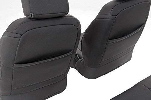 Rough Country 91004 Black 4 Door Neoprene Seat Cover (Front/Rear) for 13-18 Jeep Wrangler Unlimited JK 4WD