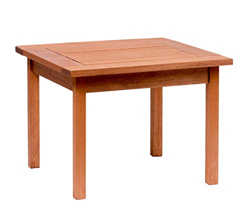 Amazonia Milano 1-Piece Outdoor Square Side Table | Eucalyptus Wood | Ideal...