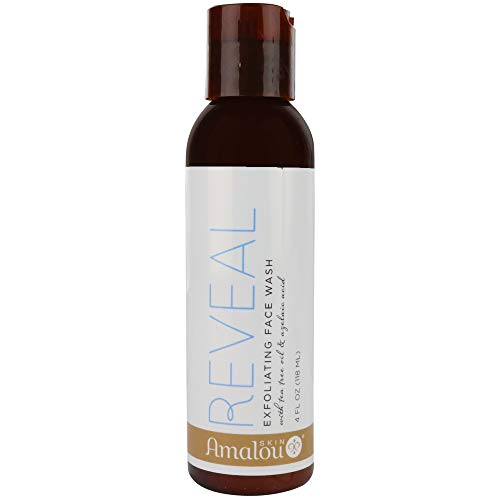 Amalou Skin - Reveal Exfoliating Face Wash Natural Facial Scrub that Fights Blemishes and Melasma, Pregnancy Safe Facial Cleanser, With Azelaic Acid, Tea Tree Oil and Lactic Acid - 4 fl oz