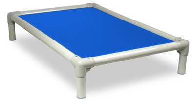 Kuranda Almond PVC Chewproof Dog Bed - XXL (50x36) - Vinyl Weave - Royal Blue by Kuranda