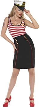 Pin Up Sailor Dress - Fever - Adult Fancy Dress Costume - Extra ...