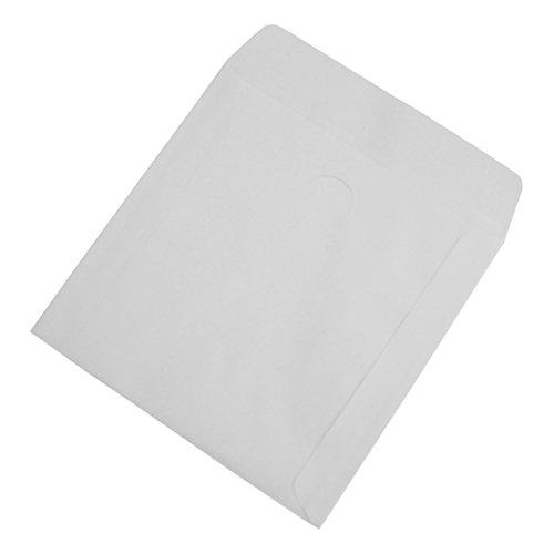 Nulink premium thick white paper cd dvd sleeves envelope for 100 paper cd sleeves with window flap