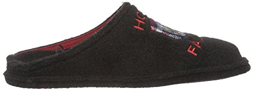 softwaves 511 070 Herren Pantoffeln Schwarz (Black 008)
