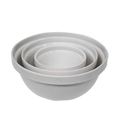 Casafina Fattoria Collection Stoneware Ceramic Set 3 Mixing Bowls, ()