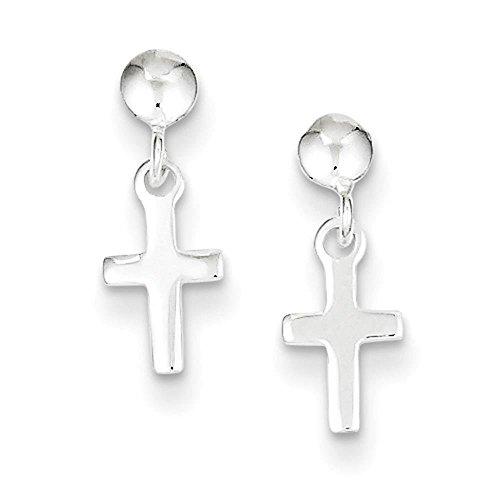 Cross Dangle Post Earrings - 3