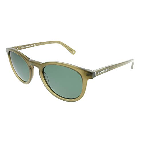 (Banana Republic Men's Johnny Sunglasses, Transparent Olive, Green, 51)