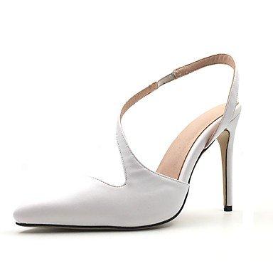 RTRY Sandalias De Mujer Zapatos Formales Polipiel Primavera Verano Oficina &Amp; Carrera Parte &Amp; Vestido De Noche Zapatos Formales Stiletto Talón Blanco 3A-3 3/4En Blanco Us5.5 / Ue36 / Uk3.5 / Cn US6 / EU36 / UK4 / CN36