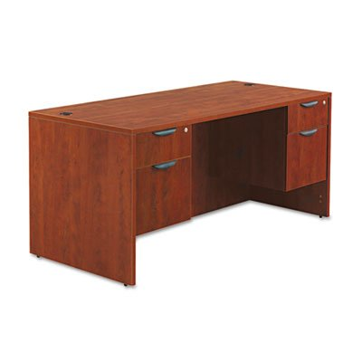 Valencia Series Straight Front Desk Shell, 65w x 29-1/2d x 29-1/2h, Med Cherry, Sold as 1 Each
