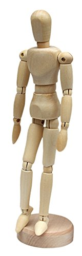 Puppet Marionette Art (RoseSummer 1Pcs Artists Wooden Manikin Movable Limbs Human Joints Manakin Mannequin (5.5 Inches ))