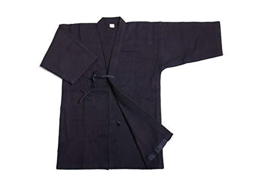 ZooBoo Mens Cotton Kendo Aikido Hapkido Hakama Martial Arts Keikogi (L/175, Dark (Kendo Equipment)