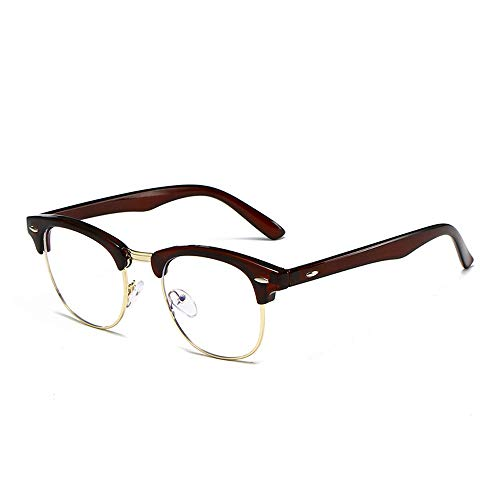 H.Y.FFYH Sunglasses Blue Light Blocking Computer Glasses for Anti Eyestrain Anti Glare Lens Lightweight Frame Eyeglasses for Men Women Eyewear Glasses (Color : 02Coffee, Size : Free)