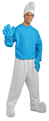 Rubie's Men's Smurf Deluxe Adult Costume, As As Shown, Extra-Large]()