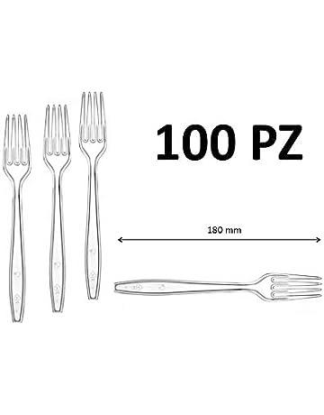 25/cm /25,4/cm /nero/ Heavy Duty duro plastica forchette monouso//riutilizzabile/ / /Confezione da 5