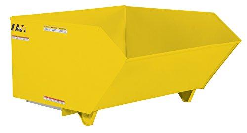 Vestil H-150-MD-YEL Self Dumping Hopper MD, 1.5 cu. yd, 4000 lb. Capacity, 51.8125