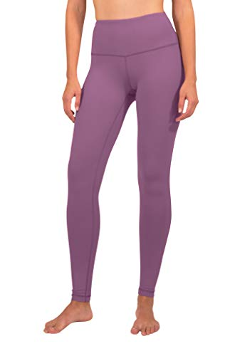 90 Degree By Reflex High Waist Squat Proof Interlink Leggings for Women - Fig Berry - Medium (90 Degree By Reflex Yoga Pants Review)