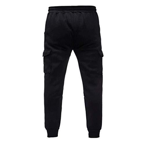 Base Cargo Da Fit Chino Pant Autentico Tapered Lunghi Nero Abbigliamento Sportivo Uomo Especial Estilo Jeans Jogging Pantaloni 7xgqYq
