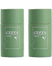 2 peças de máscara de argila purificadora de chá verde, hidratação profunda do rosto, removedora de poros limpos, melhora a pele para todos os tipos de pele, homens, mulheres