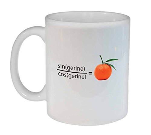 Tangerine Funny Math Coffee or Tea mug
