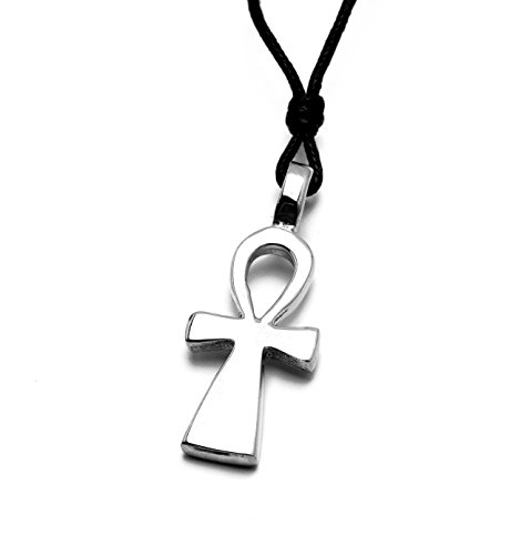 Egyptian Ankh Key Silver Pewter Charm Necklace Pendant Jewelry