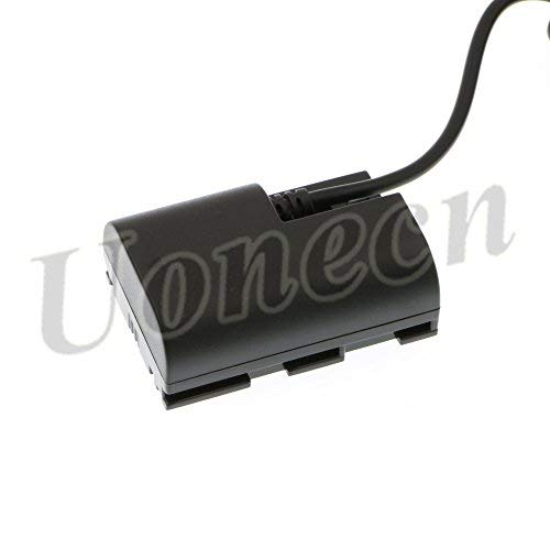LP E6 Dummy Battery to Dtap Male Power Cable for SmallHD 501 502 702 Monitor and Canon 5D Mark II 7D 60D