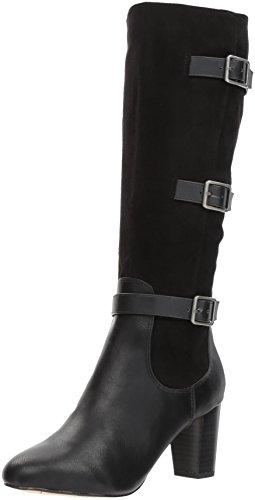 Bella Vita Women's Talina Ii Harness Boot, Black Burnish, 12 M US