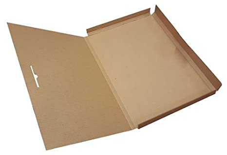 A2 Marrón archivadores de cartón para cajas para carteles arte académico, 5 unidades)