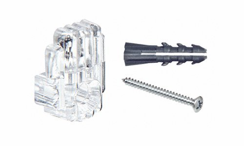 1/4'' Clear Mirror Clip, Screw and Anchor Set Pack of 1000 by CR Laurence