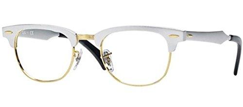Ray-Ban Eyeglasses RX6295 2806 Brusched Silver Demo Lens 49 21 - 21 Ray 49 Ban