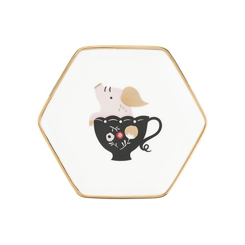 Pinky Up 5392 Tea Tray 5392.0 Accessories, Teacup Pig