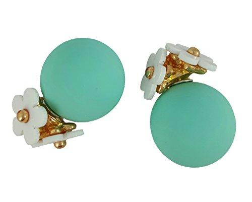 Aqua Daisy Earrings