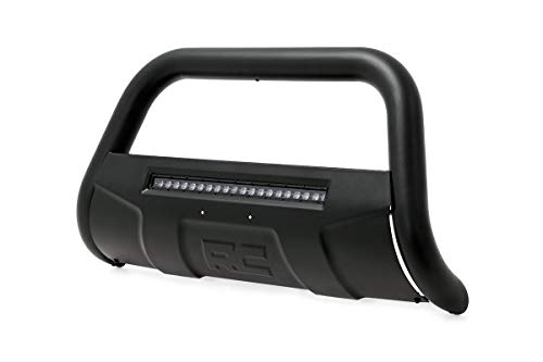 Rough Country Black Bull Bar w/LED Compatible w/ 2008-2018 Chevy Silverado GMC Sierra 1500 Tahoe Yukon Suburban B-C4071 (Diecast Gmc Yukon)