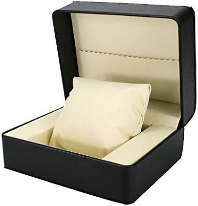 PUレザーボックスブラックウォッチのためにウォッチボックスウォッチ表示ボックス包装