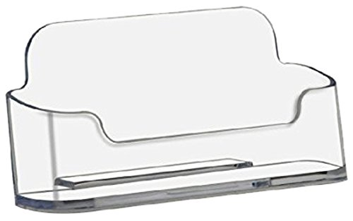 "Deflect-O Deflecto Business Card Holders Single Compartment, 3-3/4"" W X 1-7/8"" H X 1-1/2"" D, Clear (70101) (10, Clear)"