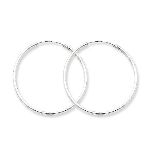 Sterling Silver Polished 30mm Endless Hoop Earrings