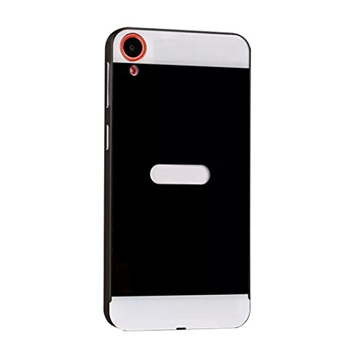 Meily(TM) Luxury Ultra Metal Back Skin Case Cover For HTC Desire 820 (Black)