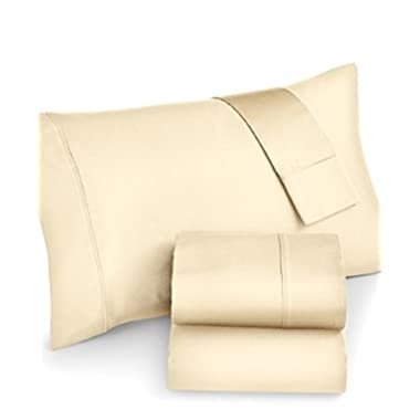 Belfast 1000 Thread Count Queen Sheet Set Bedding Pale Yellow