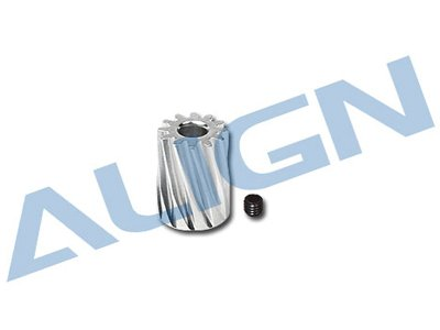 Align Pinion Gear - Align H45157 450 Motor Pinion Helical Gear, 12T