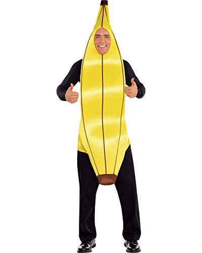AMSCAN Going Banana Halloween Costume for Adults, Standard, with Armholes -