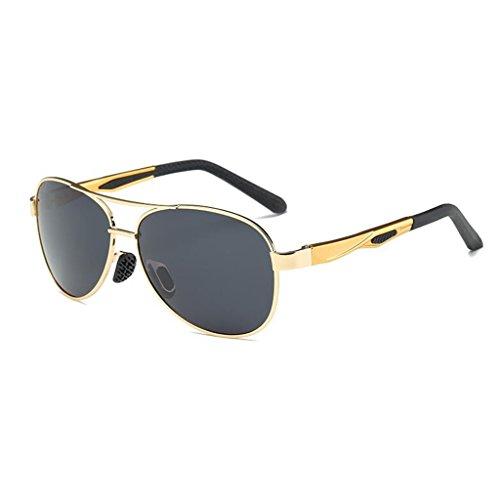 De Polarizada Gafas Ejercicio Moda Negro Luz Anti HOME QZ Reflejo Oro Color Conducir Controladores De Sol nxXzT