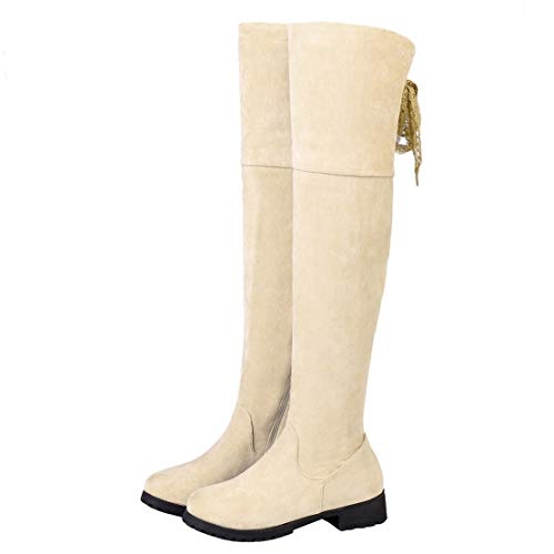 Boots Velvet Women's Velvet AiyoumeiClassic Women's Beige AiyoumeiClassic Boots u13FTK5clJ