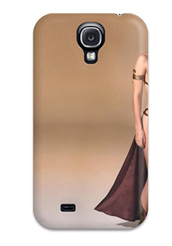Galaxy S4 Case Cover - Slim Fit Tpu Protector Shock Absorbent Case (princess Leia In Gold Bikini)