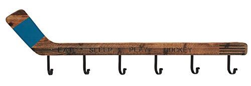 Deco 79 55587 Wood & Metal Hockey Wall Hook ()