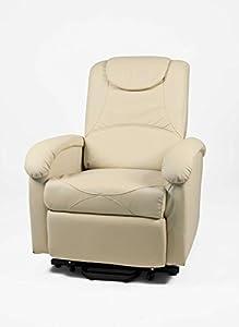 Poltrone Con Alzata Assistita Per Anziani.Poltrona Relax Elettrica Beige Con Alza Persona E Massaggio