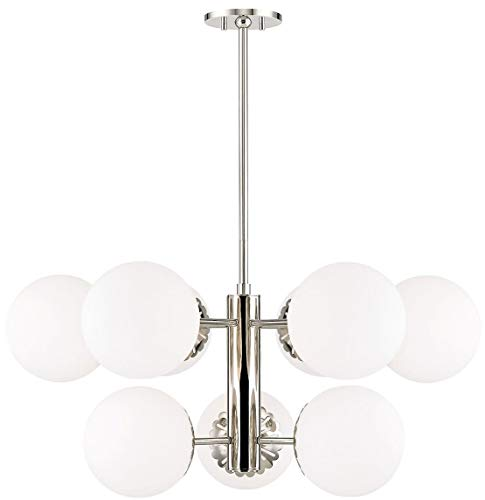 Mitzi by Hudson Valley H193809-PN Paige 9 Light 33 inch Polished Nickel Chandelier Ceiling Light